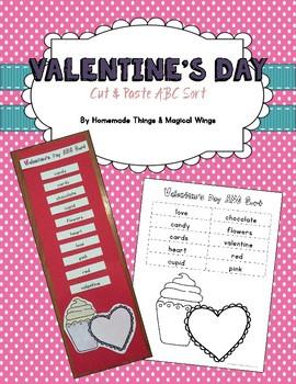 Valentine's Day ABC Sort {cut & paste}