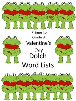 Valentine's Day Dolch Word Packs