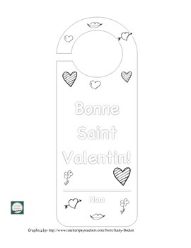 Valentine's Day Door Hanger Project in French