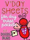 Valentine's Day Dry Erase Pocket Math Sheets Printables