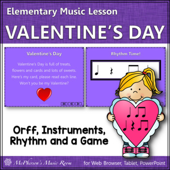 Valentine's Day (Eighth): Orff, Rhythm, Form, Instruments,