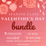 Valentine's Day Spanish, San Valentin BUNDLE of activities