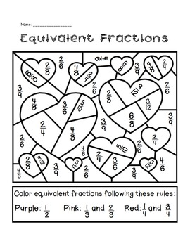 Valentine's Day Equivalent Fractions Activity by The Busy Class ...