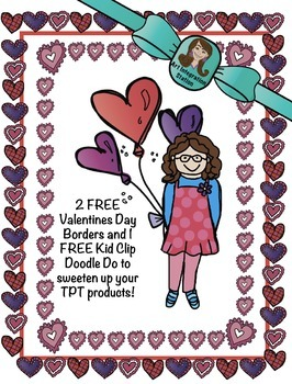 Valentines Day FREE Borders and Kid Clip Art