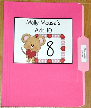 "Valentine's Day File Folder Game--""Molly Mouse's Add Ten"""
