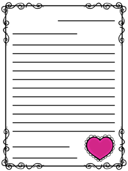 Valentine's Day Friendly Letter Templates! Freebie!