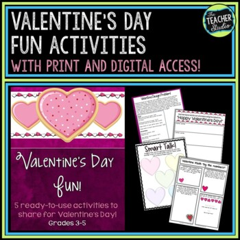 Valentine's Day Fun Learning Activities for Grades 3-5