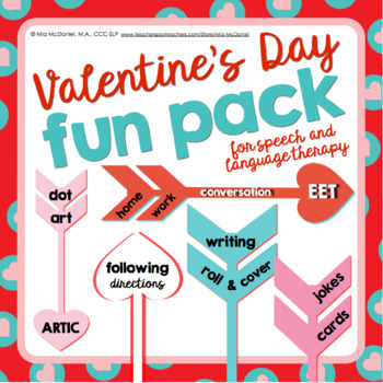 Valentine's Day Fun Pack {for speech/language therapy or c