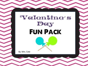 Valentine's Day Fun Pack (games, cards, gift tags, activit