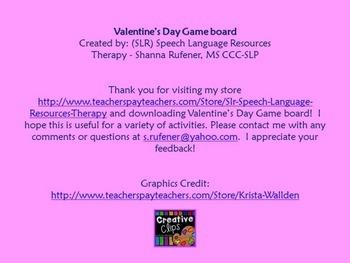 Valentine's Day Game Board