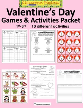 Valentine's Day Games and Activities Packet