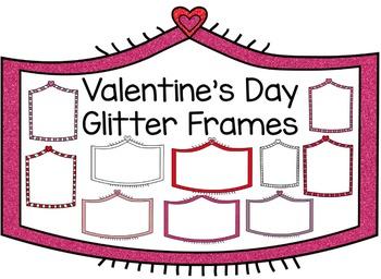 Valentine's Day Glitter Frames