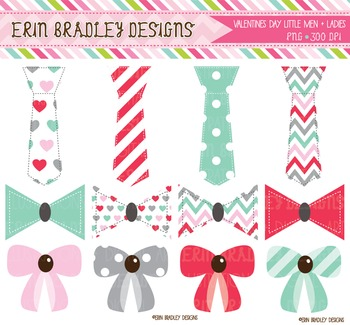 Valentines Day Graphics - Bows and Ties Clipart