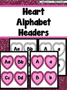 Valentine's Day - Heart Alphabet Header
