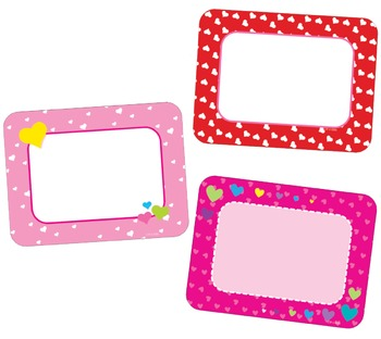 Valentine's Day Heart Cards Cut-Outs Bright Pink, Light Pi