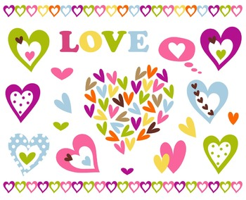 Valentine's Day Hearts Clip Art Set
