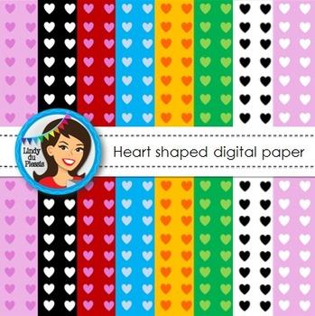 Valentine's Day Digital Paper {Hearts}