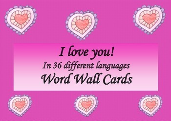 Valentine's Day I Love You in 36 Different Languages Word