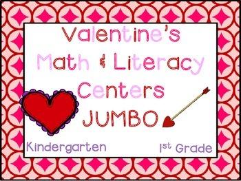 Valentine's Day JUMBO Pack (K-1 Math & ELA Pack- 35+ CCSS