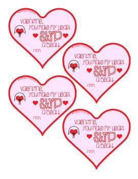 Valentine's Day Jump Rope Tag #2