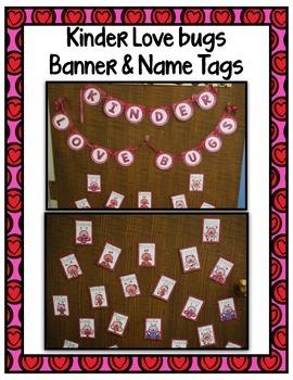 Valentine's Day Freebie ~ Kinder Love Bugs Banner