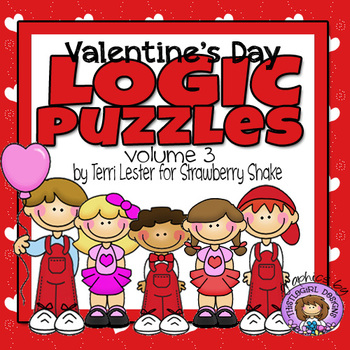 Valentine's Day LOGIC PUZZLES: 4 Critical Thinking Tasks w