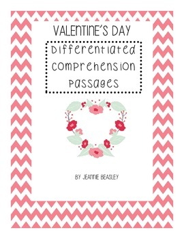 Valentine's Day Leveled Comprehension Packet