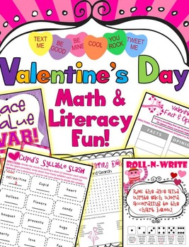 Valentine's Day Literacy, Math, Craftivities & Fun!