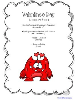 Valentine's Day Literacy Pack_First Grade