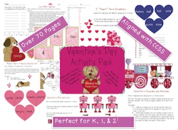 Valentine's Day Literacy and Math Centers -- Common Core Aligned!