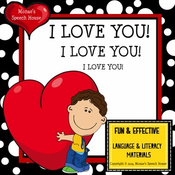 Valentine's Day Love Early Reader Pre-K Speech Therapy