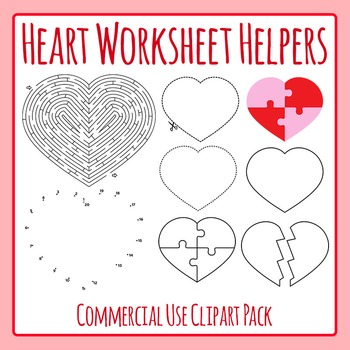 Valentines Day Love Hearts Worksheet Helpers - Commercial