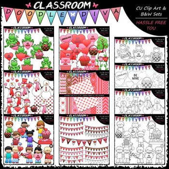 Valentine's Day Clip Art MEGA Bundle (6 Sets)