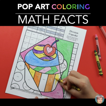 Valentine's Day Math Review Coloring Sheets