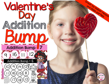 Valentines Day Math Addition Bump Game
