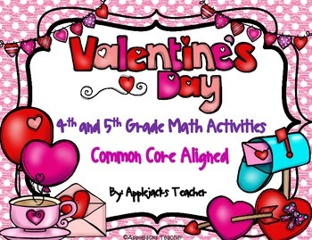 Valentine's Day Math Activities - 4th and 5th Grade - Comm