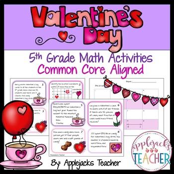 Valentine's Day Math Activities - 5th Grade - Common Core Aligned