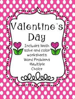 Valentine's Day Math Activity Book