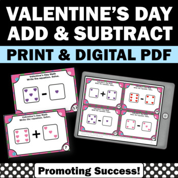 Valentine's Day Kindergarten Math Activities Addition and