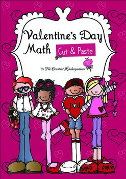 Valentine's Day Math Art Activities in Printable Worksheets