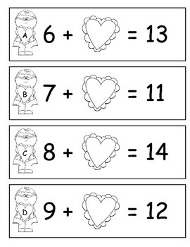 Valentine's Day Math Centers Packet