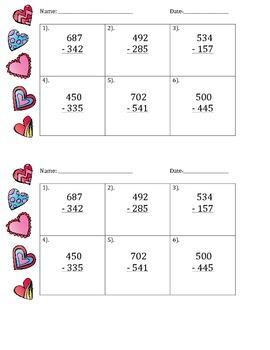 Valentine's Day Math - Do Now - FREE