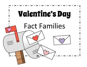 Valentine's Day Math – Fact Family Activity