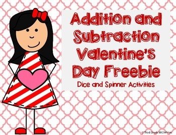 Valentines Day Math Freebie: Addition and Subtraction