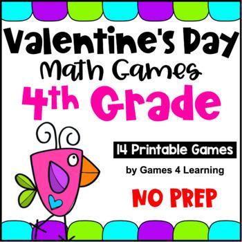 Valentine's Day Math Games Fourth Grade