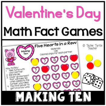Valentine's Day Math Games - Making Ten