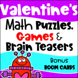 Valentine's Day Math Games, Puzzles and Brain Teasers