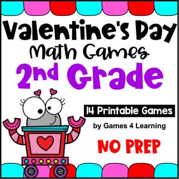 Valentine's Day Math Games Second Grade