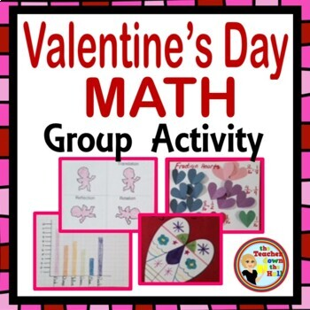 Valentine's Day Math Group Activity - Fractions, Geometry,