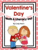 Valentine's Day Math & Literacy Unit - Centers, Math Tubs,
